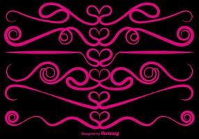 Vector Amour ornemental diviseurs