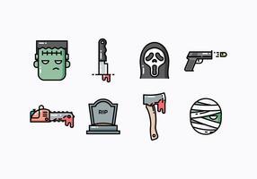 Thriller Free And Suspense Movie Icons vecteur