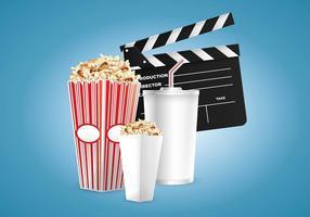 Vecteur Cinéma et Popcorn Box