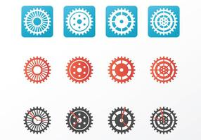 Lumineux Horloge Pièces Vecteurs