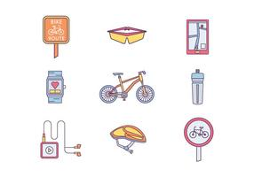 Bicycling vecteur libre