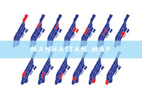 Manhattan carte vectorielle vecteur