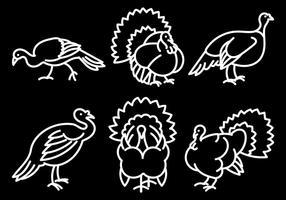 Wild Turkey Icônes vecteur libre
