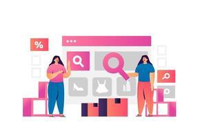 concept de technologie de marketing numérique