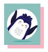 dessin animé mignon petit pingouin