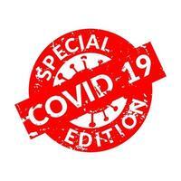 cachet ou sceau de coronavirus vecteur