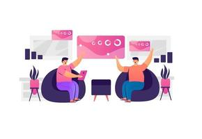 concept de discussion de travail d & # 39; équipe entreprise vecteur