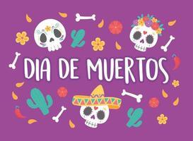fête des morts avec des crânes en sucre