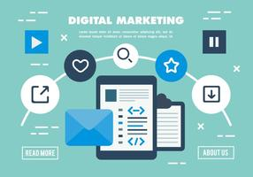 Digital Marketing Free Business Vector Illustration