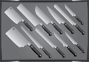 Couteau de cuisine en acier vecteur