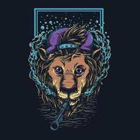 conception de tshirt lion swag