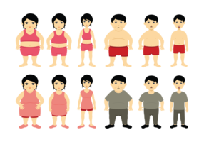 Cartoon Slimming Vector