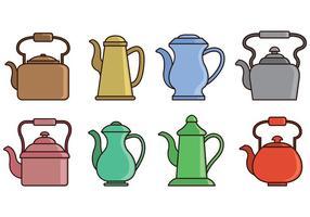 Set Of Teapot Icons vecteur