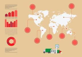 Landfill pollution mondiale vecteur