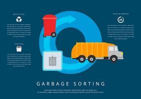 Enfouissement des ordures tri vecteur