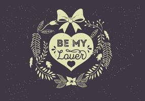 Day Typographie Free Vector Valentine