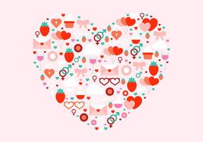 Jour Vecteur Coeur de Valentine gratuit