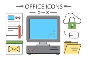 Icônes de bureau gratuites vecteur