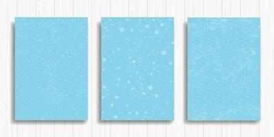 ensemble de cartes d'hiver bleu