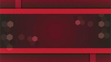 fond rouge dégradé abstrait avec bordures et formes