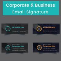 ensemble de modèles de signature de courrier électronique professionnel et personnel vecteur