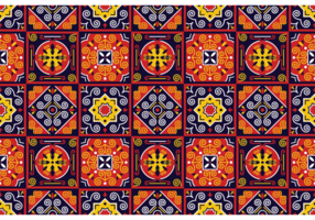 Motif Vector traditionnel Azulejos