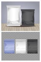 ensemble de sacs et sachets d'emballage colorés vecteur