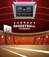 bannière de tournoi de basket