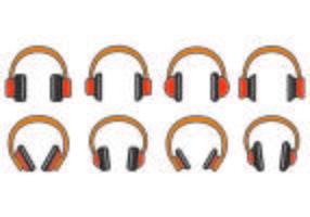 Set Of Head Phone Icons