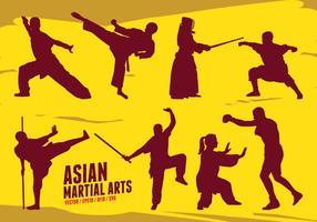 Arts martiaux asiatiques vecteur