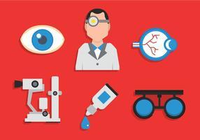 médecin vecteur yeux