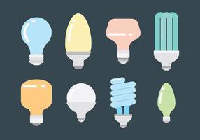 Ampoule icônes vecteur libre