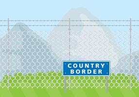 Pays frontaliers vecteur