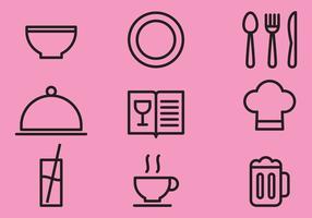 Articles Cuisine Ligne vecteur