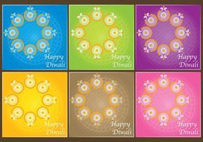 Vecteurs d'invitation Diwali