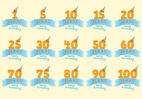 Celebratory anniversaire Badge Vecteurs vecteur