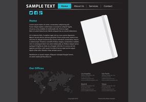Web Template Page Vecteur