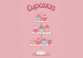 support vecteur de petit gâteau gratuit