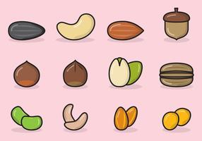 Icônes de semences Mignon vecteur