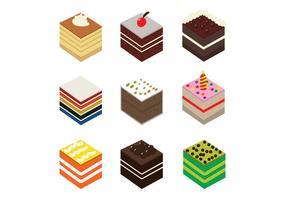 Gâteau Slice Pack Vector