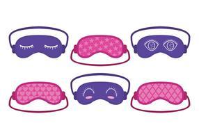 Cute Pink and Purple Mask Sleep Vector