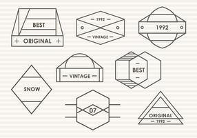 Set Of Modern Trendy Blason Vector