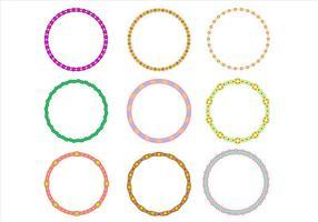 Mignon Cercle frontière Funky Frames Vector gratuit