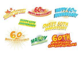 Gratuit 60e anniversaire Vecteur