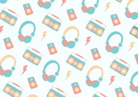 Pastel Musique Head Téléphone fond