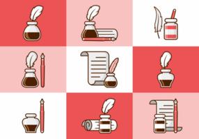 Encrier Flat Icons vecteur