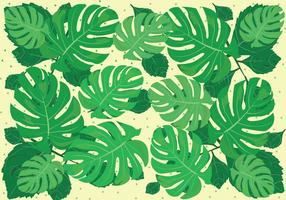 Vert Jungle Leaves Background vecteur