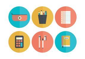 Set Of Flat école icônes vecteur