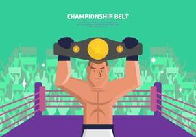 Boxer avec ceinture de Champion du fond vecteur