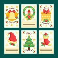 collection de cartes et de voeux joyeux noël
